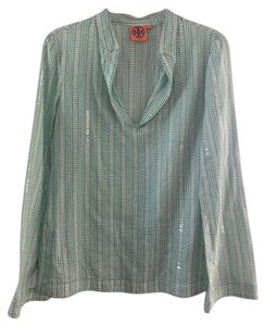 Tory Burch Top Green and white