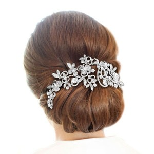 Bella Silver Rhinestone Headband Wrap Hair Accessory