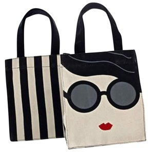 Alice + Olivia Tote in Black & White
