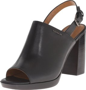 Coach Womens Brady Semi Matte black Pumps