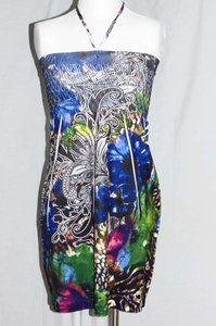 J.J. Authentic short dress Multicolor on Tradesy