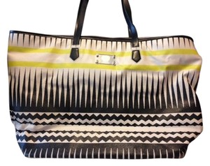Vince Camuto Tote in Black/White/Yellow