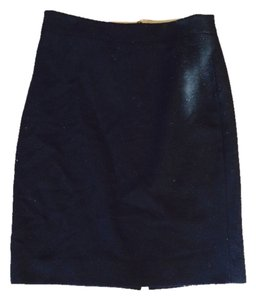 J.Crew Never Worn Well Made Wool Material Skirt black