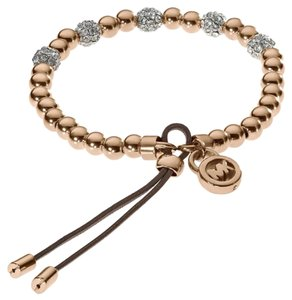Michael Kors Michael Kors MKJ1973 Rose Gold Tone Crystals Beaded Stretch Bracelet
