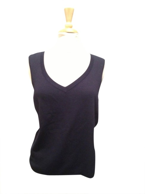 Talbots Shell Top Navy