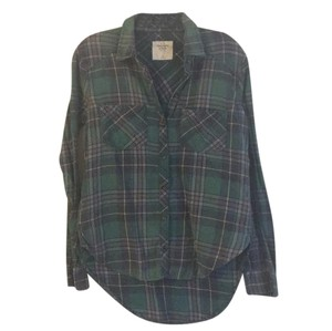 Abercrombie & Fitch Button Down Shirt Green
