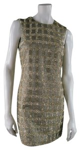 Michael Kors Plaid Beaded Sparkle Mod Dress