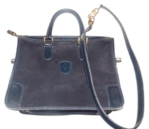 Gucci Doctor s Boston Early Detachable Strap Suede And Leather Satchel in  navy blue faba3e5d5af6c