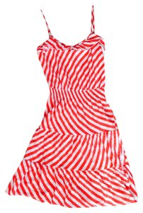 French Connection short dress red and white striped on Tradesy