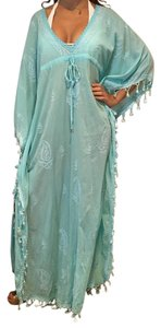 Melissa Odabash Melissa Odabash full length embroidered kaftan with drawstring