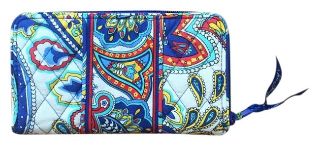Item - Accordion Wallet / Marina Paisley Multi-colored Cotton Clutch