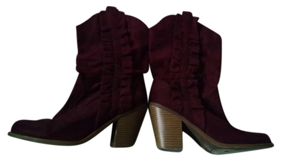 Kensie Boots/Booties Maroon Dark Red Maylisa Boots/Booties Kensie 10e40d