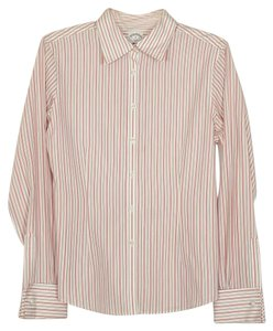 Brooks Brothers Button Down Shirt white, pink and black