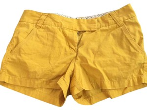 J.Crew Mini/Short Shorts Mustard yellow color
