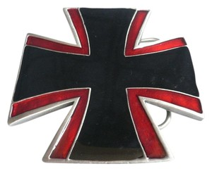 Other New Men Women Black Red Medieval Cross Belt Buckle Antique Silver Metal