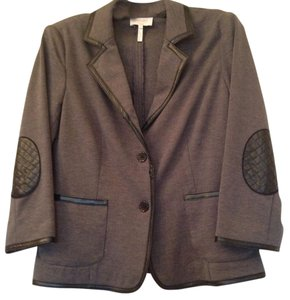 Laundry by Shelli Segal Charcoal grey with black trim Blazer