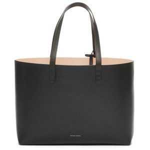 Mansur Gavriel Leather Italian New Tote in Black // Ballerina