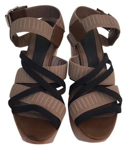 Marni Leather Wedge Platform Brown Wedges