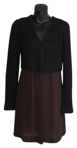 Bailey 44 Anthropologie Boiled Wool Wool Duster Sheer black Jacket