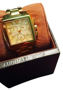Michael Kors Michael Kors Square Gold-tone Watch