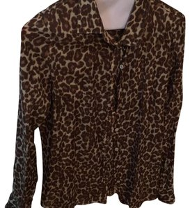 J.Crew Leopard Button Down Top