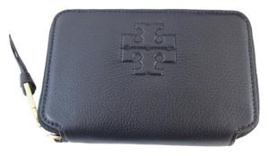 Tory Burch Tory Burch Thea Multi-task Navy blue Smartphone Wallet Wristlet zipper gold logo MSRP $165