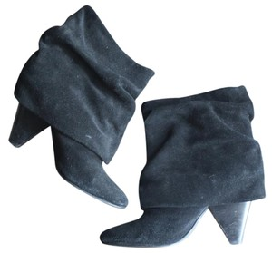 Steve Madden Suede Fall Winter Bootie Boot Black Boots