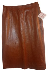 Pelle Studio Italian Leather Skirt Tan