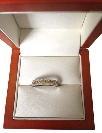 Other 14 Karat Gold Diamond And Sapphire Ring