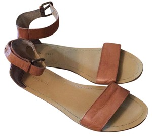 Nine West Ankle Strap Tan Sandals