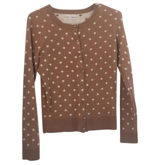 Item - Dark Tan and Off White Dots Cardigan Size 4 (S)