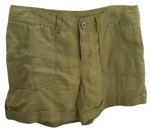 INC International Concepts Cuffed Shorts Charteuse