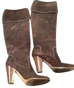 Michael Kors Brown Suede Boots