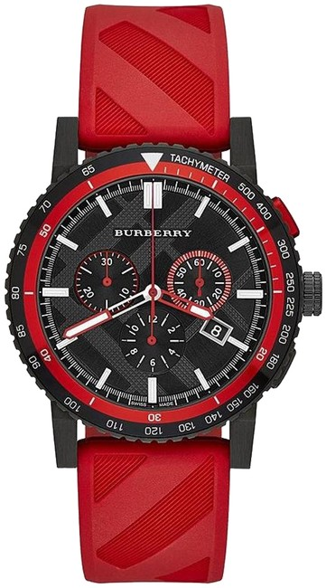 Item - Red City Rubber Chronograph Mens Bu9805 Watch
