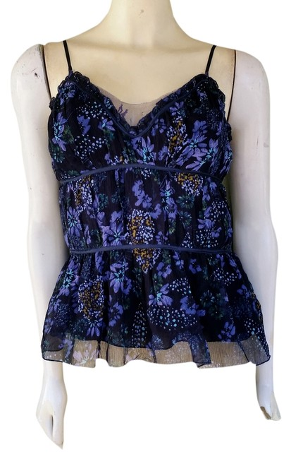 WD.NY Silk Floral Top Blue
