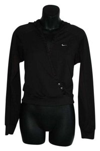 Nike deep V neck sweater pullover black