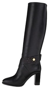 Ralph Lauren Collection Pull-on Knee-high Riding Equestrian Black Boots