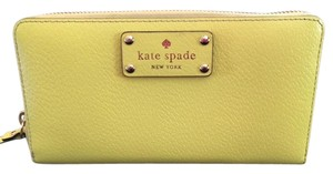 Kate Spade Wristlet in Fluorescent Yellow