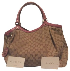 Gucci Tote in Pink/ Canvas