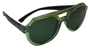 Von Zipper New VONZIPPER Sunglasses VZ PSYCHWIG Transp Green & Black Frame w/ Green Lenses