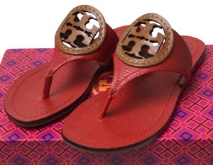 Tory Burch Red New Tan Sandals