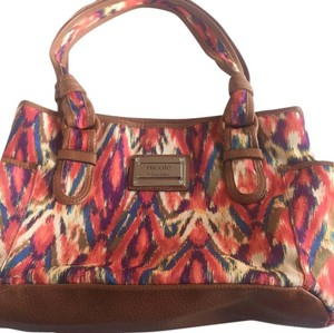 Nicole Miller Tote in rainbow