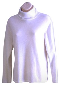 ORVIS Mint Classic Cashmere Turtleneck Cream L Sweater