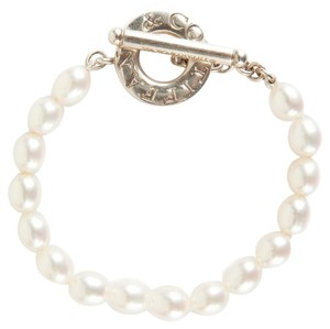 Tiffany & Co. Pearl and Silver Toggle Clasp Bracelet