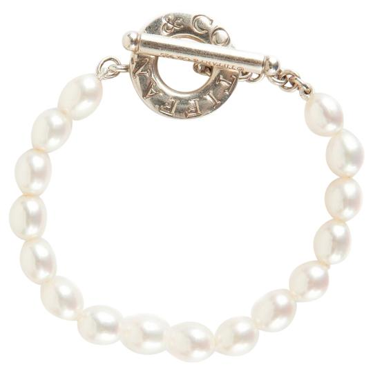 Tiffany And Company Toggle Necklace: Tiffany & Co. Pearl And Silver Toggle Clasp Bracelet