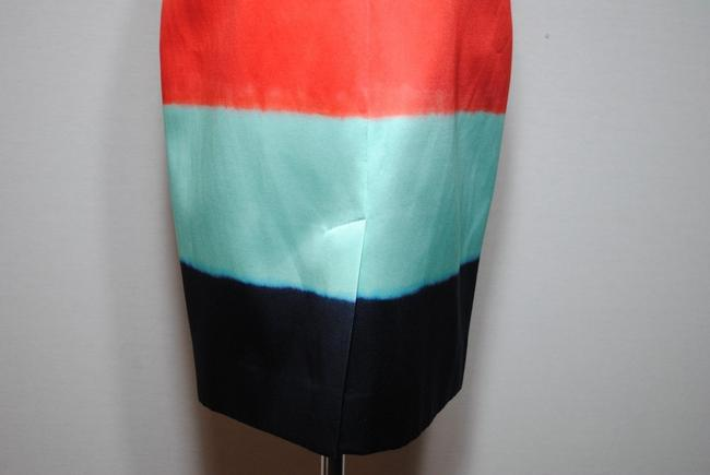 Kate Spade Madison Ave Pencil Spring Summer Colorblock Skirt red