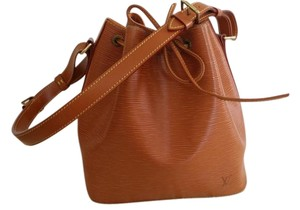 Louis Vuitton Epi Leather Bucket Tote in Sienna