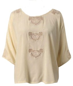 Anthropologie Lace Windows Romantic Top NWT Ivory