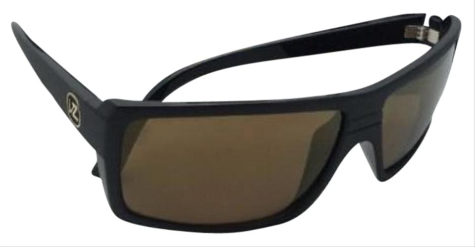 bfa1eb9508 Von Zipper Battlestations VONZIPPER Sunglasses VZ SNARK Black Satin   Gold  Frame w  Gold Mirror ...
