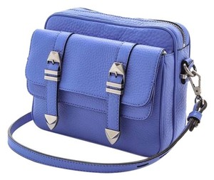 Rebecca Minkoff Blue Cow Leather Small Messenger Cross Body Bag